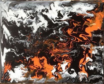 Grotte på syre / Grotto on acid, Acrylic on Canvas, 2015